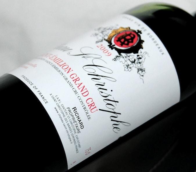 bouteille 75 cl Château Saint-Christophe