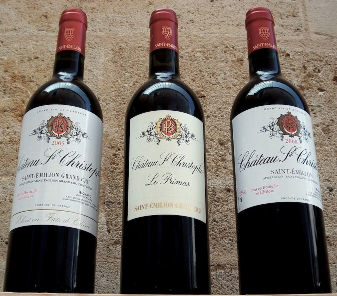 Les vins du Château Saint-Christophe
