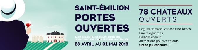 affiche Saint-Emilion portes ouvertes 2018