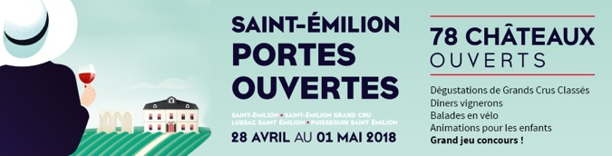 78 châteaux de Saint-Emilion vous ouvrent leurs portes